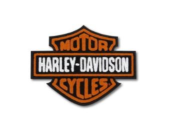 """Aufnäher """"Vintage Logo Large Iron On"""", Harley-Davidson, Orange/Schwarz/Weiß"""