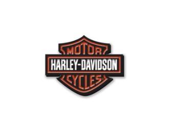 """Anstecker """"Vintage Logo Enamel Pin"""", Bar & Shield, Harley-Davidson, Orange/Schwarz/Weiß"""