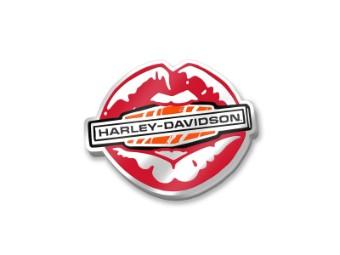 """Anstecker """"Kiss Harley® Enamel"""", Harley-Davidson, Rot/Weiß/Orange/Schwarz"""