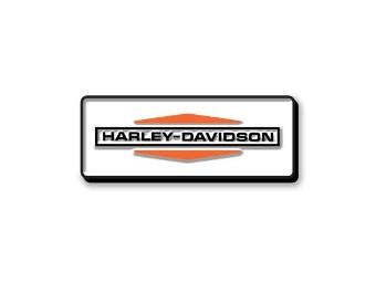 """Anstecker """"Stacked Logo Enamel"""", Harley-Davidson, Weiß/Orange/Schwarz"""