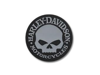 """Aufnäher """"Skull Logo"""", Harley-Davidson, Grau/Schwarz"""