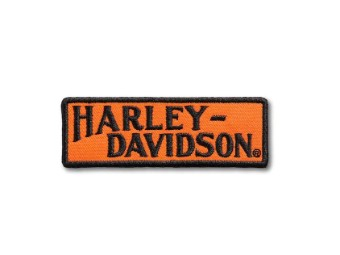 "Aufnäher ""Racer Tank Logo"", Small, Harley-Davidson, Orange/Schwarz"