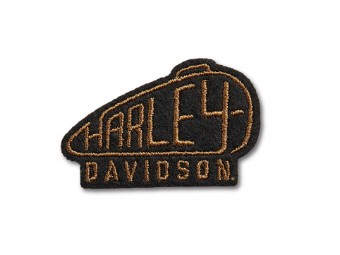 """Aufnäher """"80's Tank"""", Small, Harley-Davidson, Gold/Schwarz"""