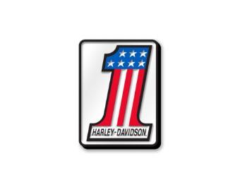 """Anstecker """"#1 Pin"""", Harley-Davidson, Weiß/Rot/Blau/Schwarz"""