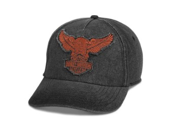 Cap, Winged Eagle, Harley-Davidson, Schwarz