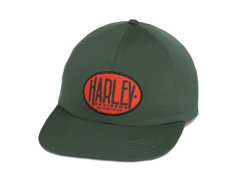 Cap, Ovale Grafik, Einstellbar, Harley-Davidson, Grün