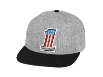 Cap, #1 Grafik, Harley-Davidson, Grau