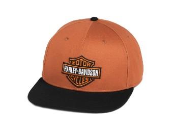 Cap, Bar & Shield, Harley-Davidson, Orange