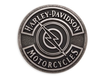 Gürtelschnalle, Lightning Bolt, Harley-Davidson, Schwarz
