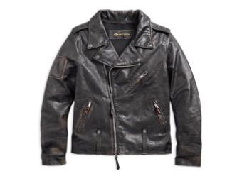 Lederjacke, Master, Slim Fit, Harley-Davidson, Schwarz