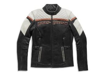 Lederjacke, Triple Vent Miss Enthusiast II, Harley-Davidson, Schwarz