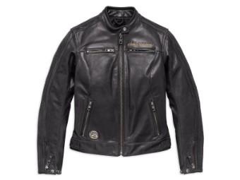 Lederjacke, 115th Anniversary, Eagle, Harley-Davidson, Schwarz
