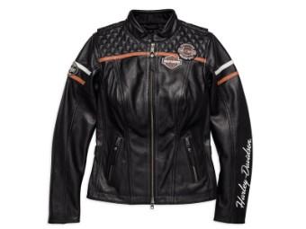 Lederjacke, Miss Enthusiast, Harley-Davidson, Schwarz