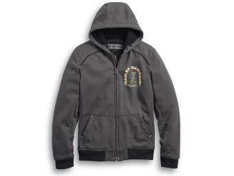 Jacke, Zip-Hoodie Arterial Abrasion-Resistant, Harley-Davidson, Grau