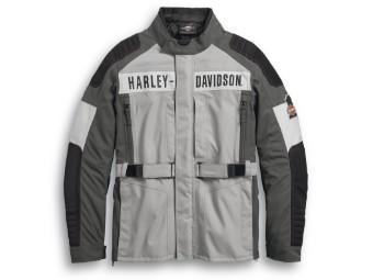 Motorradjacke, Vanocker, Wasserdicht, Harley-Davidson, Grau/Schwarz/Weiß