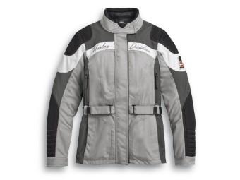 Motorradjacke Vanocker, Wasserdicht, Harley-Davidson, Grau, Schwarz, Weiß