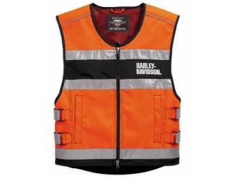 Weste, Hi-Visibility, Reflective, Harley-Davidson, Orange