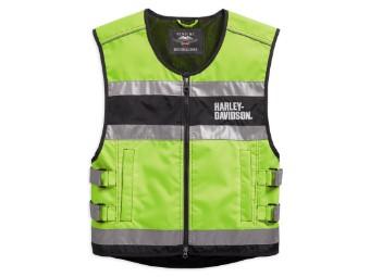Weste, Hi-Visibility Reflective, Harley-Davidson, Gelb