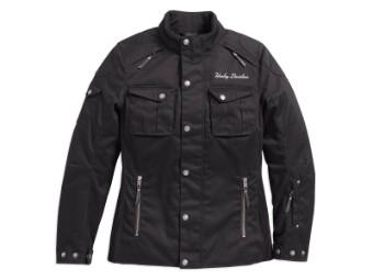 Funktionsjacke, Messenger 3/4 Textile Riding CE, Harley-Davidson, Schwarz