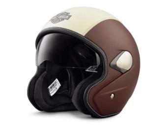 Helm, Mason's Yard Sun Shield 3/4, Harley-Davidson, Beige/Braun