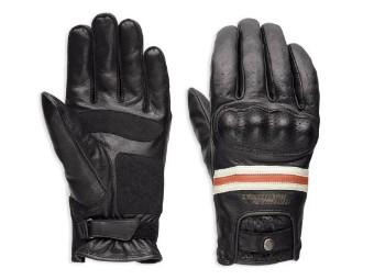 Handschuhe, Reaver, CE, Harley-Davidson, Schwarz/Weiß/Rot