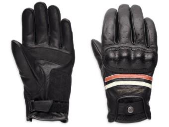 Handschuhe, Kalypso, CE, Harley-Davidson, Schwarz/Weiß/Rot