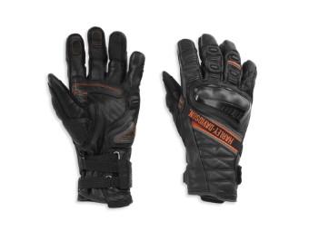 Handschuhe, Passage Adventure Gauntlet, Harley-Davidson, Schwarz