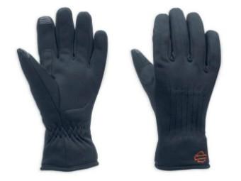 Softshellhandschuhe mit Touchscreen-Technologie, Harley-Davidson, Schwarz