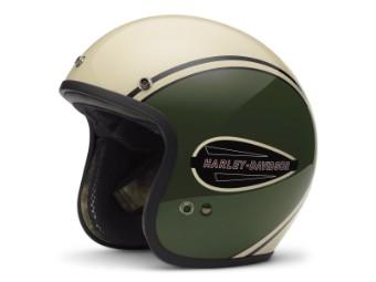 Helm, Classic Retro Freeway 3/4, Harley-Davidson, Olive/Beige