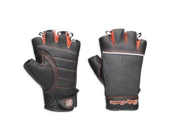 Fingerlose Handschuhe, Harley-Davidson, Schwarz