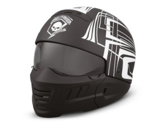 Helm, Skull Lightning, 2-in-1 ECE, Harley-Davidson, Schwarz/Weiß