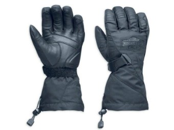 Handschuhe, Passing Link, Waterproof, Gauntlet, Harley-Davidson, Schwarz