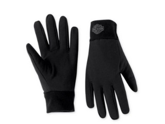 Handschuhe, Bar & Shield Fleece Glove Liner, Harley-Davidson, Schwarz