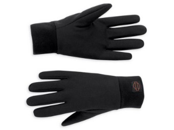 Handschuhe, Glove Liner, Black Fleece, Harley-Davidson, Schwarz