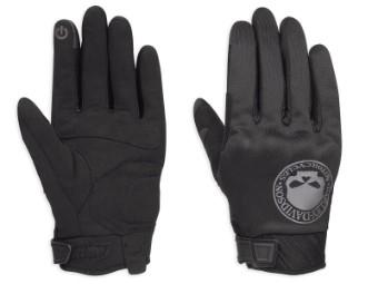 Handschuhe, Softshell, Skull, EC, Harley-Davidson, Schwarz