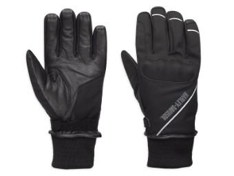 Handschuhe, Rally, Softshell, Harley-Davidson, Schwarz