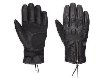 Handschuhe, Relay Leather, Harley-Davidson, Schwarz