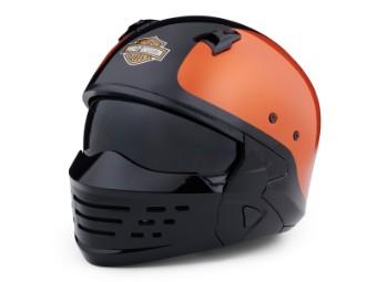 Helm, Sport Glide 2-in-1 X07, Harley-Davidson, Schwarz/Helm, Sport Glide 2-in-1 X07, Harley-Davidson, Schwarz/Orange