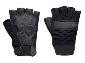 Handschuhe, Removable Pad Fingerless, Harley-Davidson, Schwarz