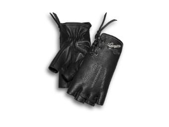 Handschuhe, Fingerlos, Distressed Perforated, Harley-Davidson, Schwarz