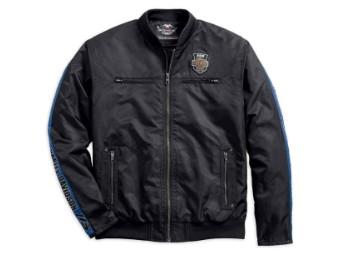 Bomberjacke, 115th Anniversary, Nylon, Harley-Davidson, Schwarz
