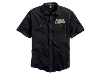Hemd, Classics Eagle Shirt, Harley-Davidson, Schwarz