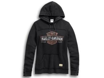 Pullover, Genuine B&S, Harley-Davidson, Schwarz