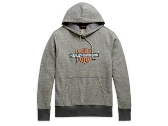 Pullover, Hoodie, Laser Cut, Harley-Davidson, Grau