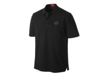 Poloshirt, Stretch Piqué, Slim Fit, Harley-Davidson, Schwarz