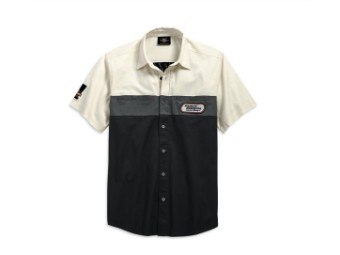 Hemd, Racing Color Block, Harley-Davidson, Schwarz/Weiß/Grau