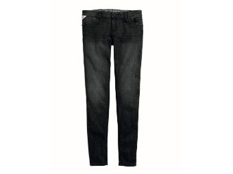 Jeans, Black Label Core Skinny Mid-Rise Jeans, Harley-Davidson, Grau