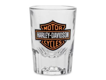 Shot Glas, Bar & Shield, Harley-Davidson, ca. 59 ml