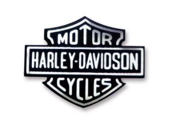 Aufkleber, Bar & Shield Logo, Harley-Davidson, Silber & Schwarz