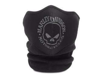 Gesichtsmaske, Skull Fleece/Neoprene, Harley-Davidson, Schwarz